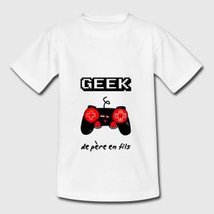 T-shirt enfant - Geek de pere en fils