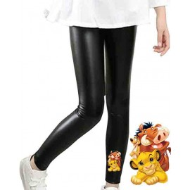 Legging enfant en matiere simili - 4-14 ans - lion