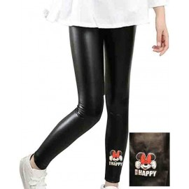 Legging enfant en matiere simili - 4-14 ans - HAPPY