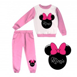 Jogging enfant sweat + pantalon 1-4 ans imprimé noeud