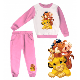Jogging enfant sweat + pantalon 1-4 ans imprimé lion