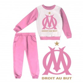 Jogging enfant sweat + pantalon 1-4 ans imprimé OM rose