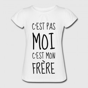 T-shirt enfant blanc - C'est pas moi, c'est mon frere .