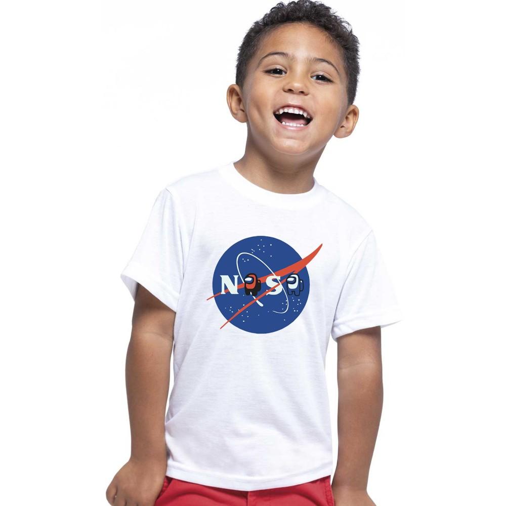 T-shirt enfant, 100% coton imprimé AMONG US NASA