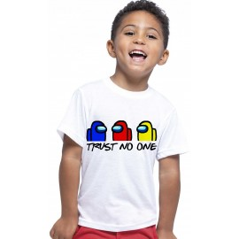 T-shirt enfant, 100% coton imprimé AMONG US TRUST NO ONE
