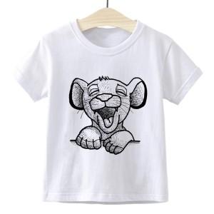 T-shirt filles manches courtes, 100% coton imprimé - Simba