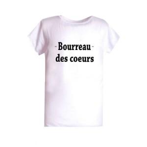 T-shirt enfant  polyester sublimé bourreau des coeur