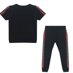 Ensemble t-shirt et pantalon bande multi couleur