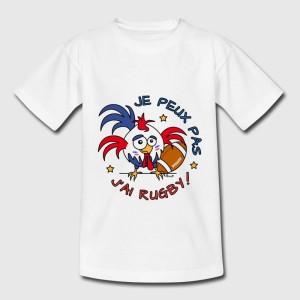 T-shirt enfant - Je peux pas j'ai rugby