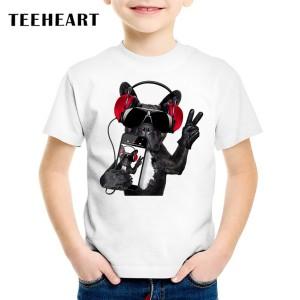T-shirt enfant - Chien casque music