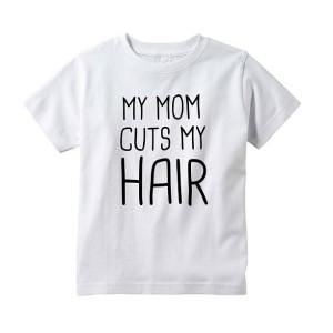 T-shirt enfant blanc - My mum cut my hair
