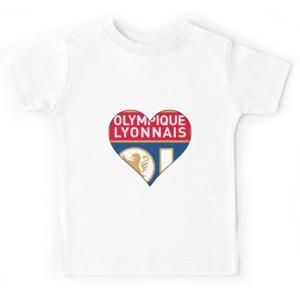 T-shirt enfant blanc - OLYMPIQUE LYONNAIS
