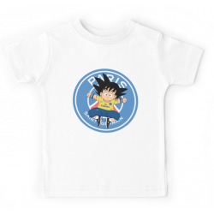 T-shirt enfant blanc - DBZ PSG