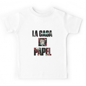 T-shirt enfant blanc - LA CASA DE PAPEL