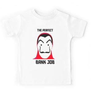 T-shirt enfant blanc - THE PERFECT BANK JOB