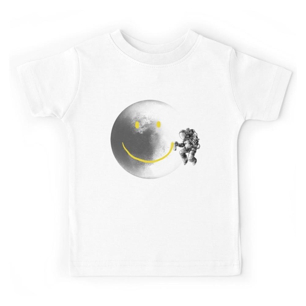 T-shirt enfant blanc - MOON SMILEY