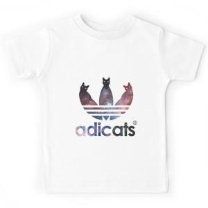 T-shirt enfant blanc - ADICATS