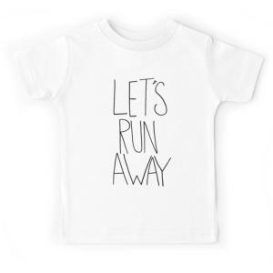 T-shirt enfant blanc - LET'S RUN AWAY