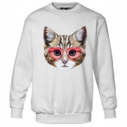 Sweatshirt enfant - CHAT LUNETTE