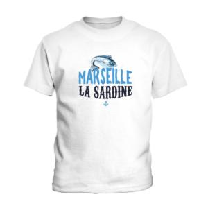 T-shirt enfant manche courte - Marseille la sardine