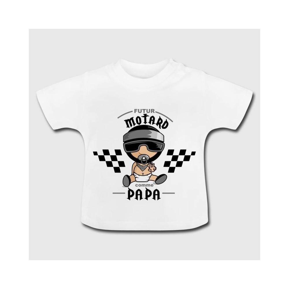 Tshirt bébé - Futur motard comme papa