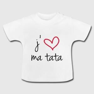 Tshirt bébé - J'aime ma tata