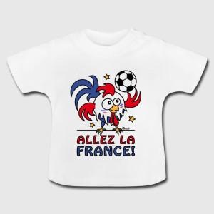 Tshirt bébé - Coq Gaulois Foot Allez La France