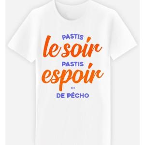 Adulte - T-shirt adulte coupe droite , humour pastis - Le soir , espoir ...