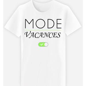 Adulte et enfant - T-shirt coupe droite , humour - MODE VACANCES