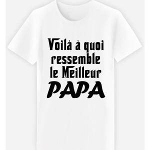 Adulte - T-shirt adulte coupe droite , humour - Voila a quoi ...PAPA