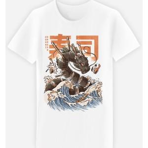 Adulte - T-shirt adulte coupe droite , Le grand Ramen dragon