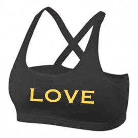 Only - Double Layer Sport Top - LOVE