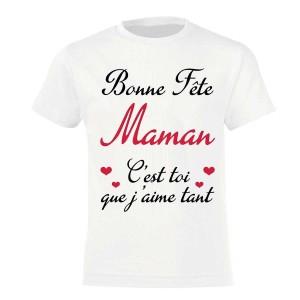 MAMAN - T-shirt pour manches courtes, 100% coton imprimé Meilleur je suis la fiere maman...