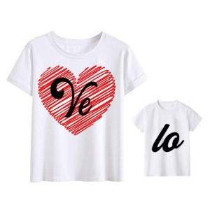 Mere et fille - T-shirt pour femme ou enfant manches courtes, 100% coton floqué fashion 2