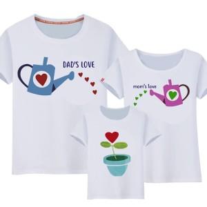 Famille - T-shirt pour famille manches courtes, 100% coton imprimé love