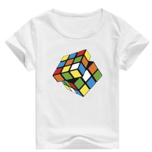 T-shirt garçon blanc manche courte - Rubicube