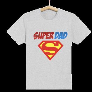 Homme - T-shirt adulte coupe droite , papa - Super DAD