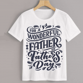 Homme - T-shirt adulte coupe droite , papa - wonderful father