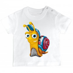 Tshirt bébé - Escargot de course