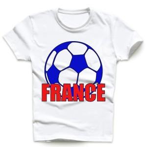 T-shirt homme et enfant manche courte 100% coton - Ballon France