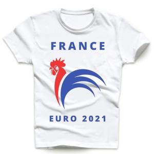 T-shirt homme et enfant manche courte 100% coton - France euro 2021