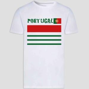 T-shirt adulte et enfant coupe droite 100% coton - Portugale euro 2021