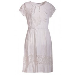 Robe Fille manches courtes blanche