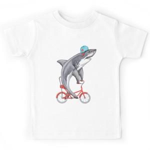 T-shirt enfant - Cycling Shark