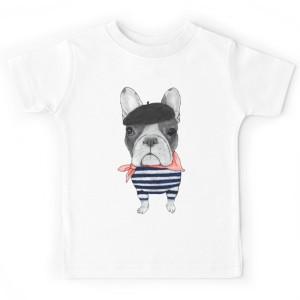 T-shirt enfant - Frenchie avec Arc de Triomphe