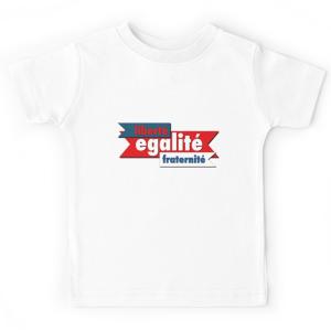 T-shirt enfant - Liberté égalité fraternité