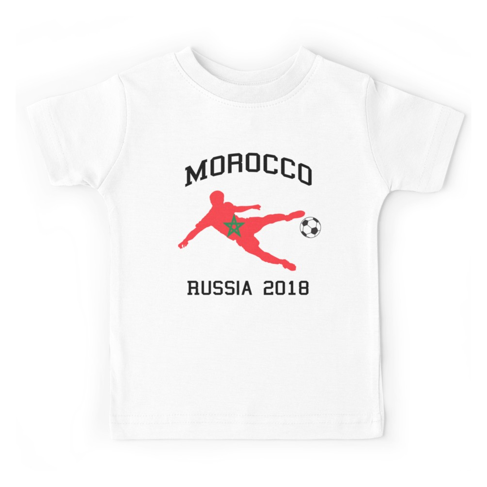t shirt enfant maroc gagne la coupe du monde 2018. Black Bedroom Furniture Sets. Home Design Ideas