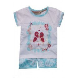 Ensemble t-shirt+short bébé fille - Oiseau - TRICKY TRACKS
