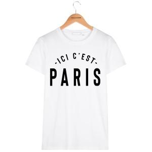Pere et fils - sweatT-shirt pour homme ou enfant , 80% coton imprimé Ici c'est paris