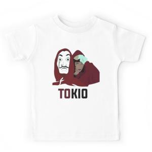 T-shirt enfant blanc - CASA DE PAPEL TOKIO